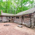 Rustic Log Cabin on 7.25 Acres in Hartland CT For Sale 001