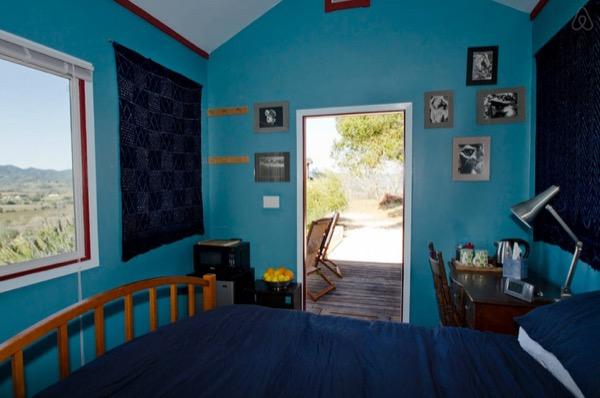 inside tiny cabin