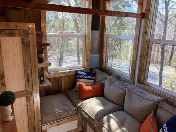 Rustic Western Tiny House on Wheels by Heartland Tiny Homes For Sale 0015