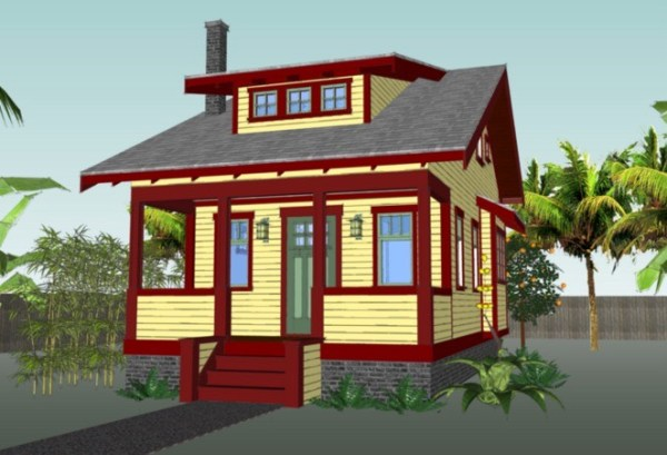670 Sq. Ft. Tiny Cottage Plans