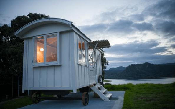 Shepherd Hut Micro Cabin with Ocean Views 0020