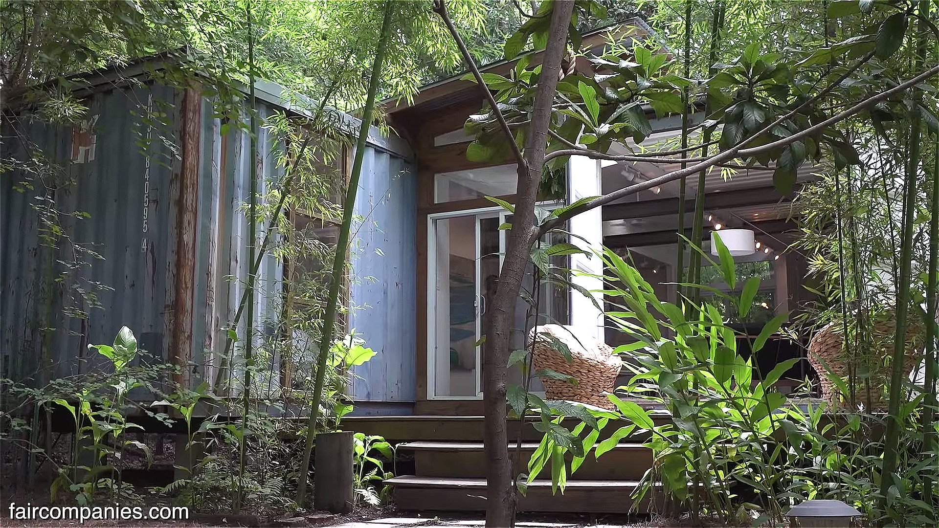 Salvaged Shipping Container Cabin In Savannah