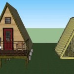 Simple A-frame Cabin Plans by LaMar Alexander 14×14 002