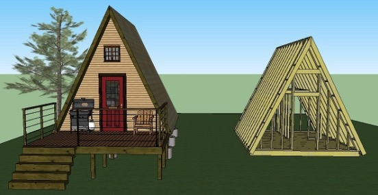 Simple-A-frame-Cabin-Plans-by-LaMar-Alexander-14x14-002 Sketchup House Plans Finished on step house plans, design house plans, english house plans, 20 by 40 house plans, tutorial house plans, windows house plans, visio house plans, excel house plans, easy hen house plans, revit house plans, open source house plans, adobe house plans, building house plans, facebook house plans, outlook house plans, solidworks house plans, autocad house plans, bim house plans, search house plans, 24 foot wide house plans,