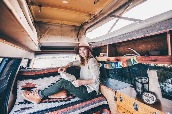 Solo Female Living Out Of An 87 Toyota Van