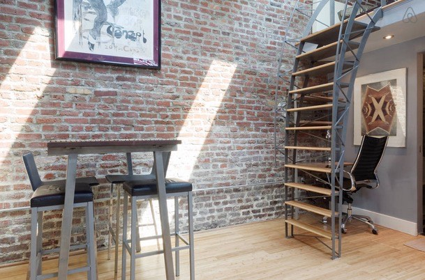 Storage Garage Converted Into Loft Tiny Home