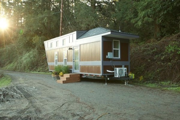 203 Sq. Ft. Tiny House on Wheels Built-in Bicycle Garage