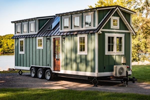 Custom 28' Tiny House On Wheels With Two Oversized Dormer