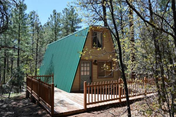 Tiny A Frame Cabin On 44 Acres For Sale In Arizona