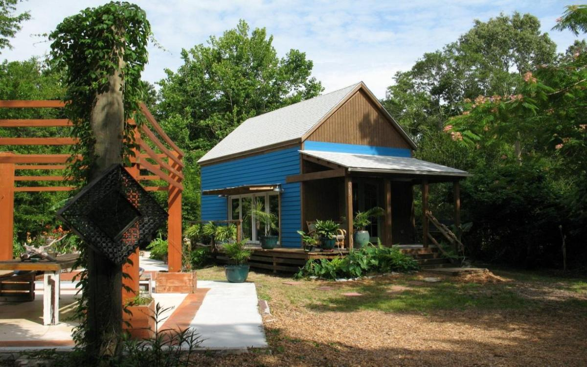 Tiny Cabin With Converted School Bus Cabin On Property For Sale In Sc