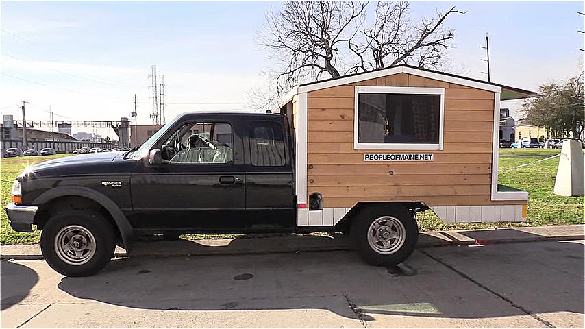 Man Builds Tiny Ford Ranger House Truck for 500