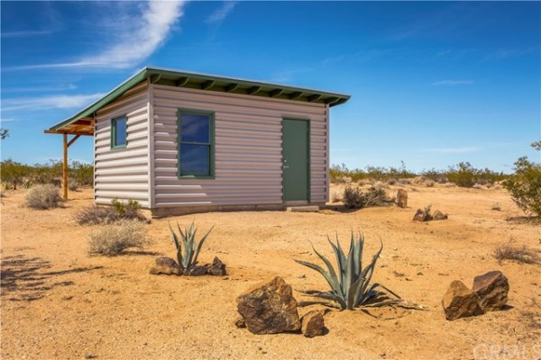 Tiny Homestead Cabin Shell on Five Acres in Joshua Tree CA_001