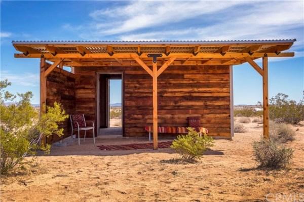 Tiny Homestead Cabin Shell on Five Acres in Joshua Tree CA_002