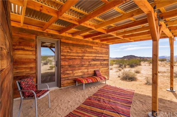 Tiny Homestead Cabin Shell on Five Acres in Joshua Tree CA_004