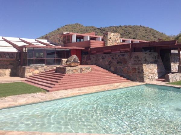 FLW's home in Scottsdale, AZ. Photo by Laura M. LaVoie