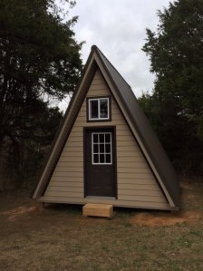 14 x14  Tiny A frame Cabin Plans by LaMar Alexander Example of a Tiny A frame Built Using these Plans