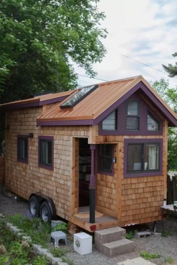 Woman Designs-Builds her own Pocket Mansion Tiny House 0026