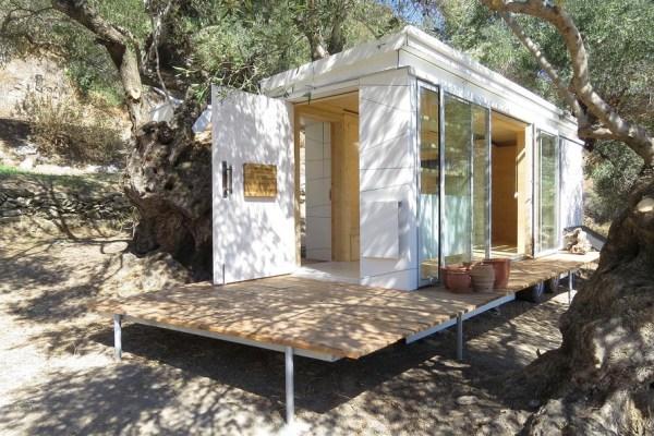 Yoga Teacher's Modern, Off-Grid Crete Tiny House on Wheels