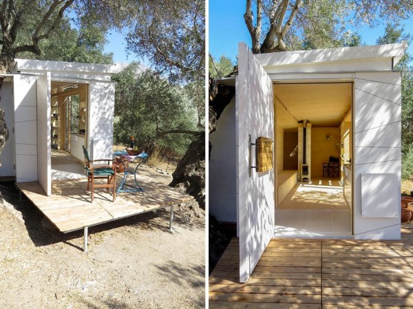 Yoga Teacher S Modern Off Grid Crete Tiny House On Wheels