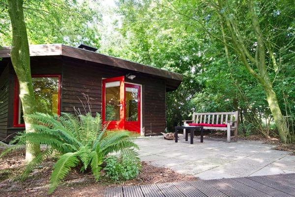 outside little yurt cabin
