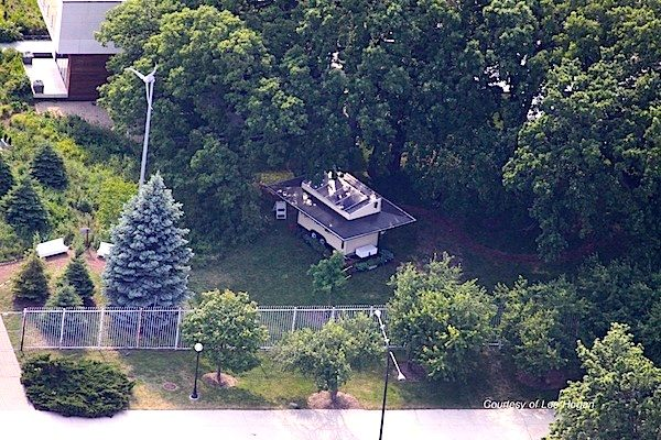 Aerial View of Northwestern University's Tiny House by Lee Hogan