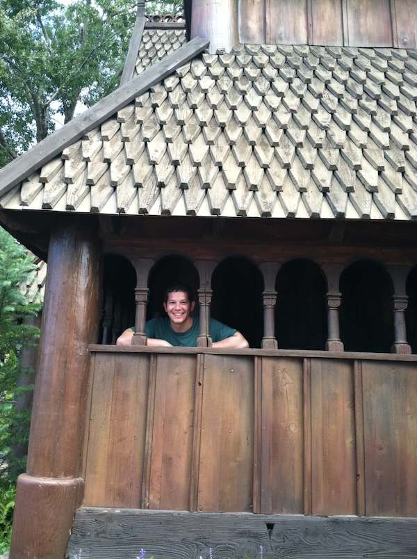 Alex in the Viking Building at Epcot