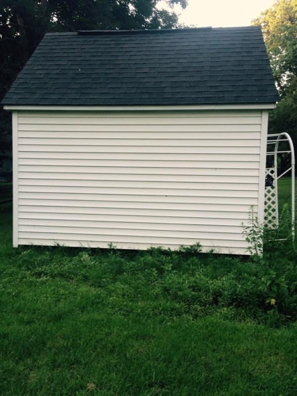 siding of tiny house