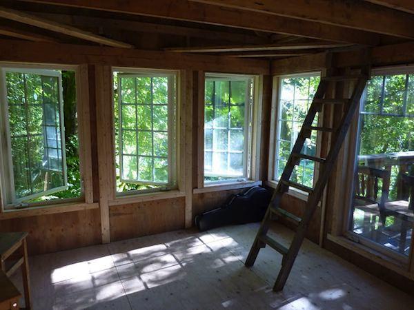 Amazing Windows Inside Off Grid Tiny Cabin