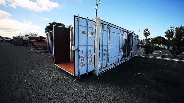 boat builders 20 ft shipping container tiny house 001 via Living Big in a Tiny House 002