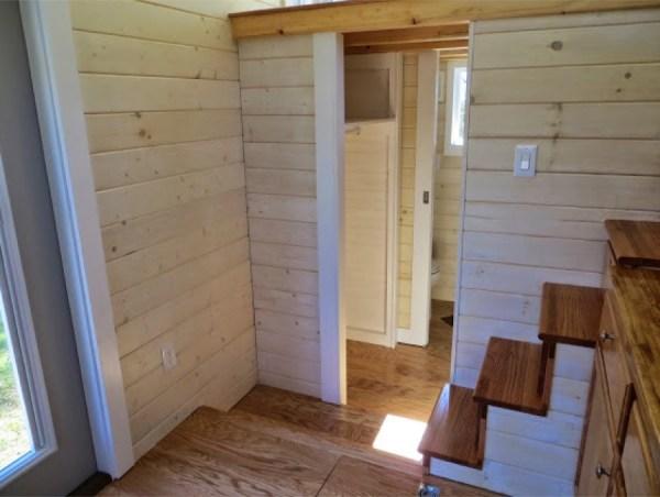 bathroom under sleeping loft