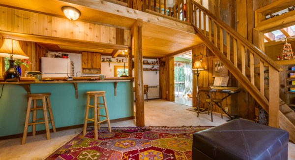 Cabin Living and Kitchen
