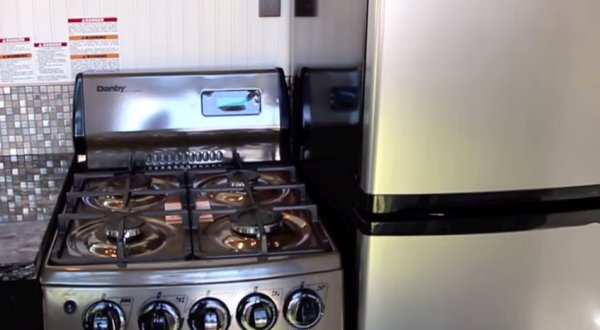 Gas Stove in Tiny Home
