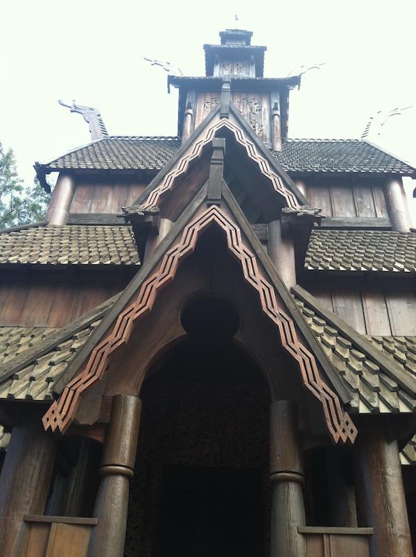 Close Up of the Viking Building at Epcot Orlando
