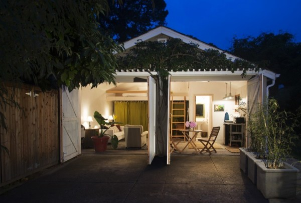 Two car garage converted into backyard tiny cottage for Converting a garage into a mother in law suite