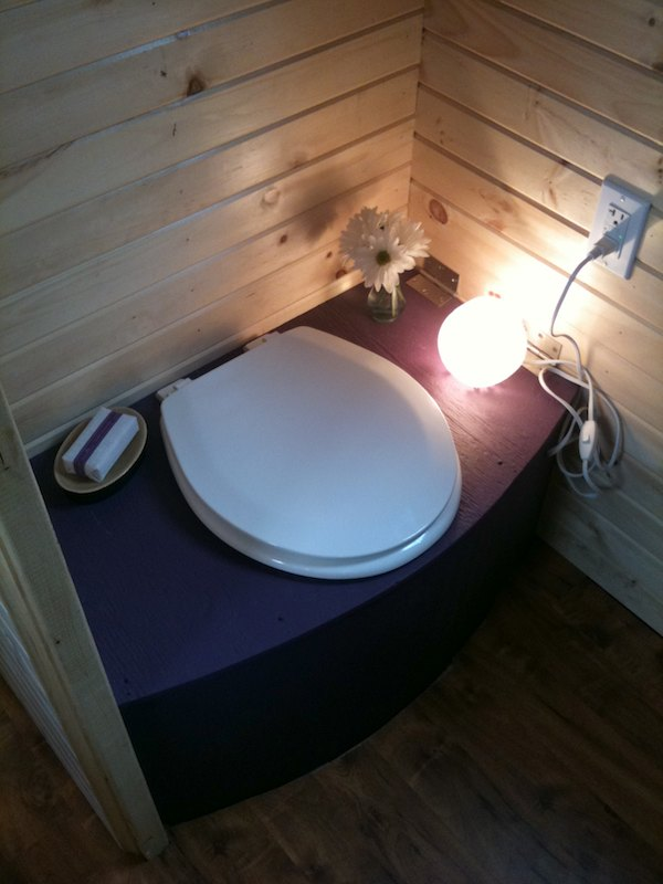 Composting Toilet in Tiny House