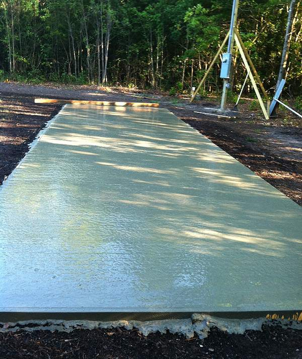 Concrete Slab for Tiny House on Wheels