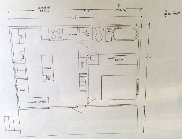 couples cottage floor plan