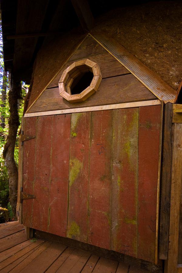 Custom Made Door to Tiny Dome House