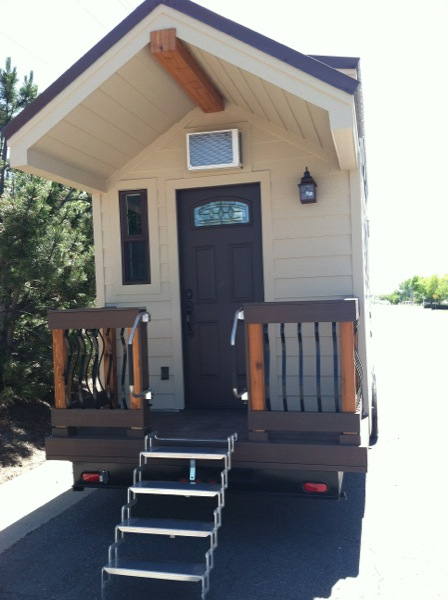 Dakota Tiny House Front with Stairs