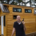 Dan Celebrates after Working on his Tiny House