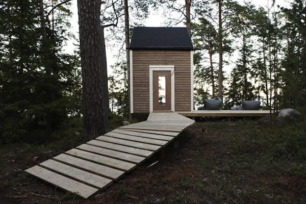 Decked entrance to Micro Home with No Permits
