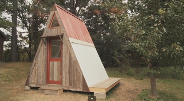 Transforming A Frame Micro Cabin You Can Build For 1200