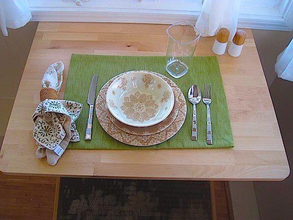 Dining inside Northwestern's Tiny House