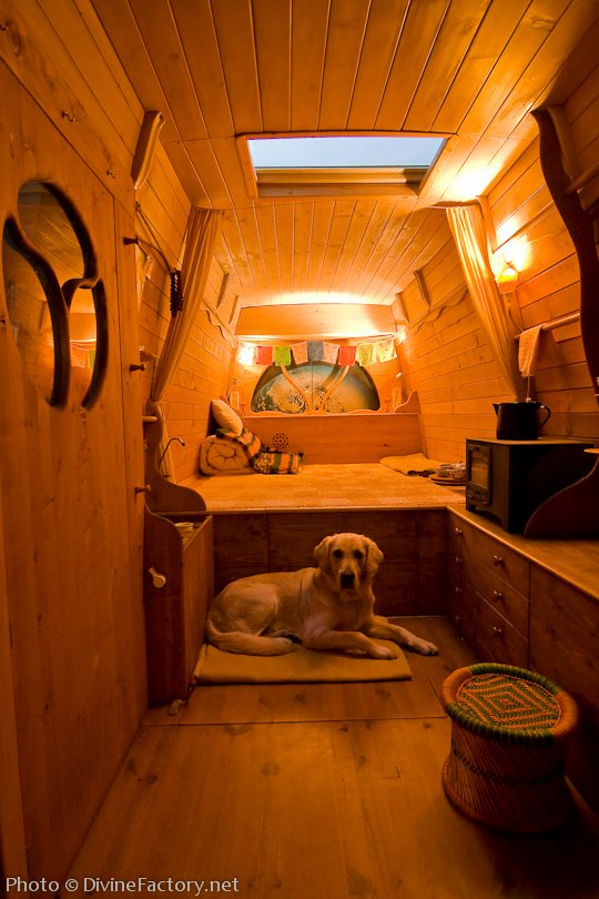 Man Turns Work Van Into DIY Motorhome Tiny Cabin