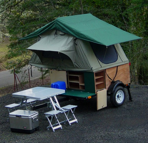Explorer Box Mobile DIY Tent Camper with Easy Set Up Kind of like a Teardrop Trailer