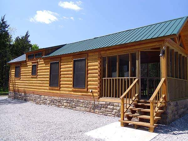 400 Sq Ft Oak Log Cabin On Wheels