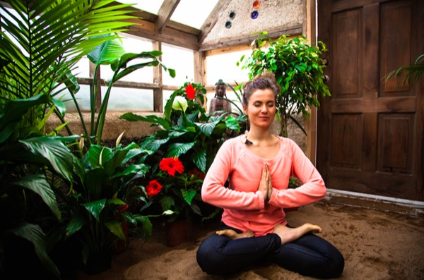 meditate in peaceful small house