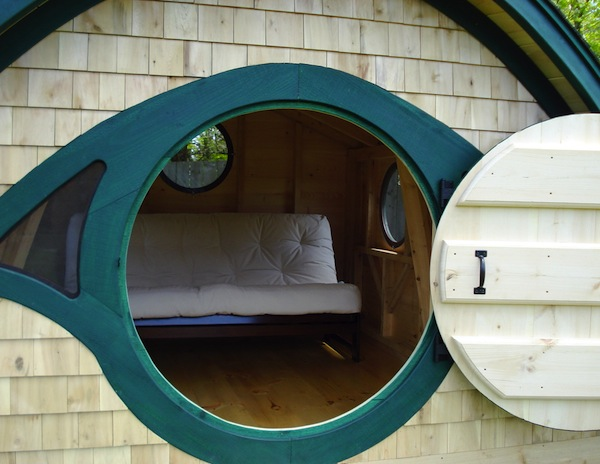 Peak inside a Hobbit Hole Tiny Cottage by Wooden Wonders
