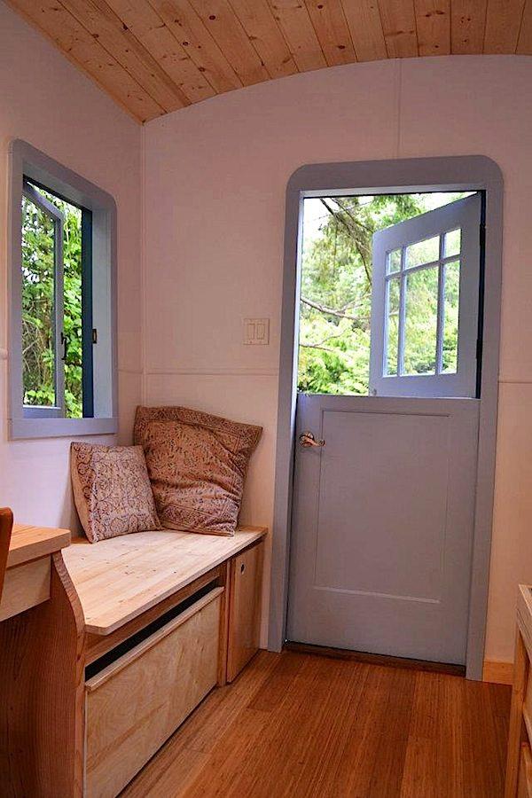 Entrance to Hornby Island Caravans Tiny House