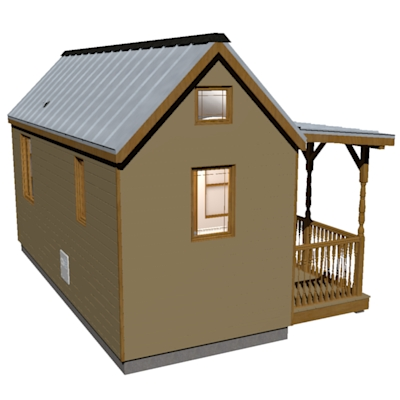 Humblebee porch tiny house plans with side entrance for Where can i buy house plans